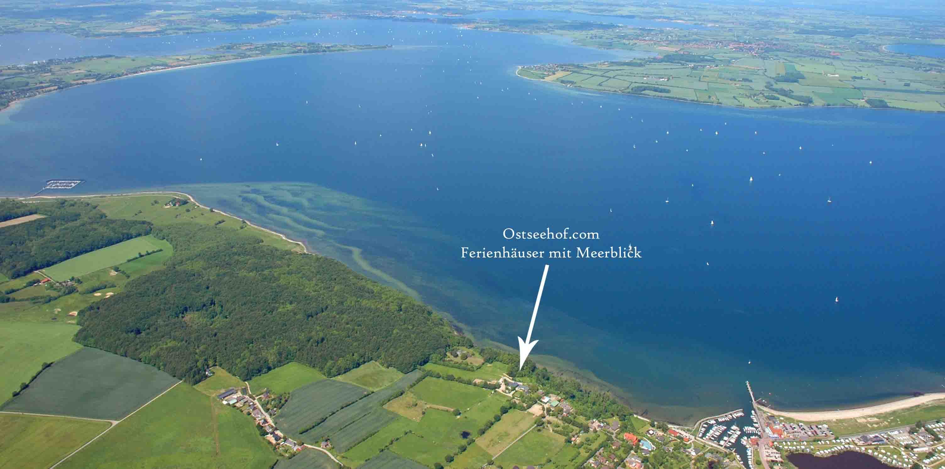 Luftbild Ostseehof an der Flensburger Förde